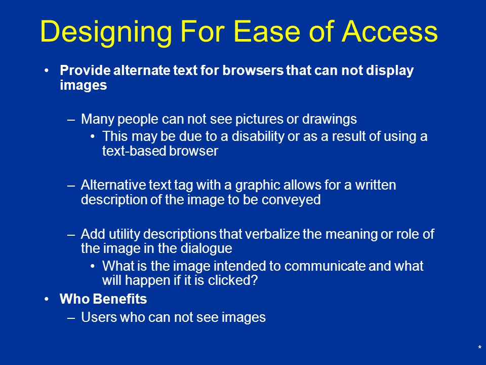 Designing For Ease of Access