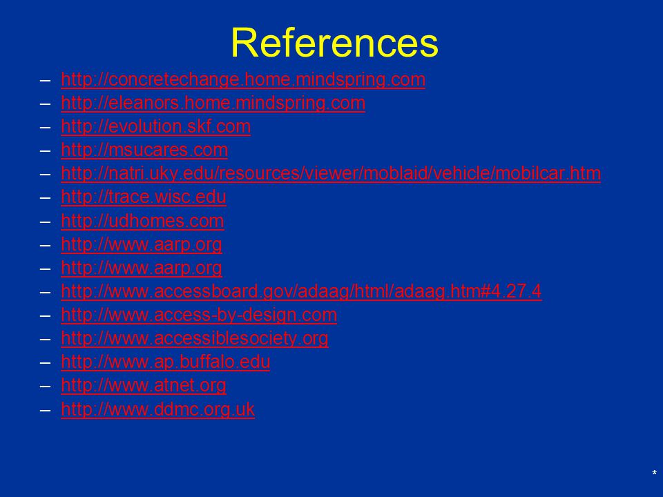 References http://concretechange.home.mindspring.com