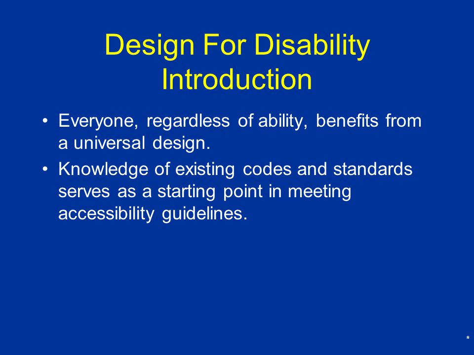 Design For Disability Introduction