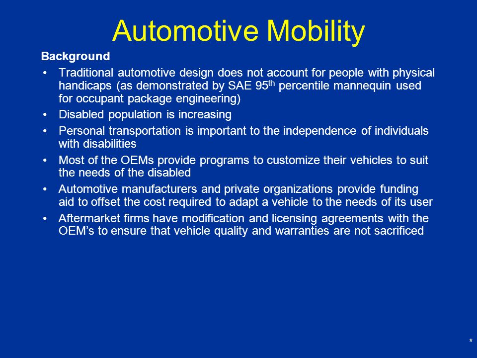 Automotive Mobility Background