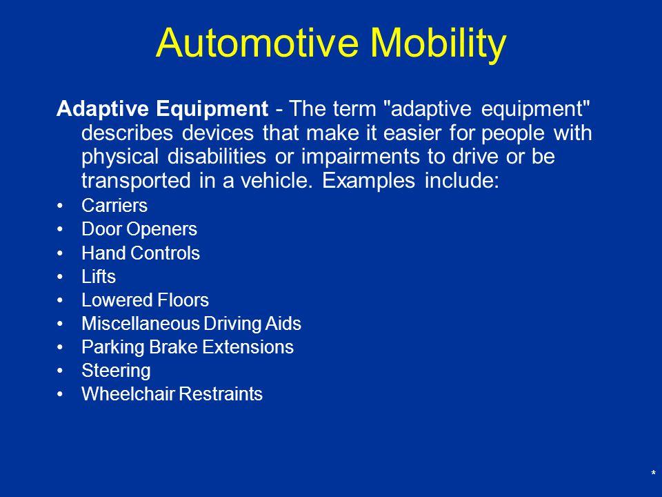 Automotive Mobility