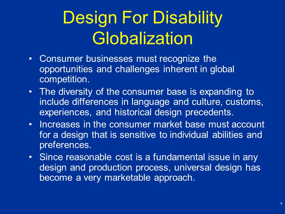 Design For Disability Globalization