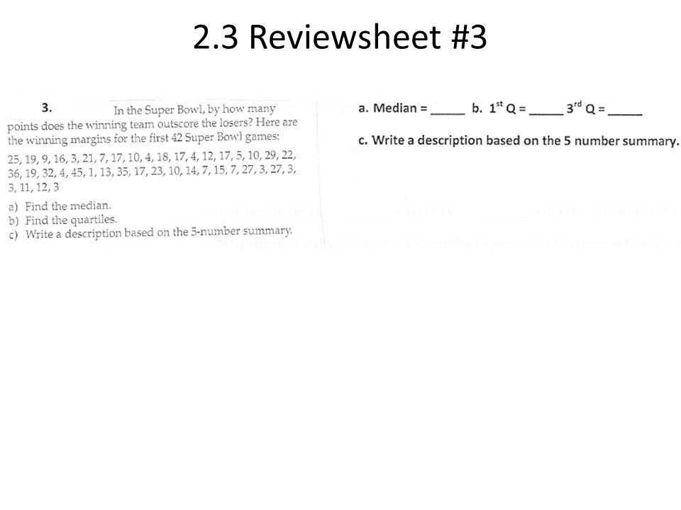 2.3 Reviewsheet #3