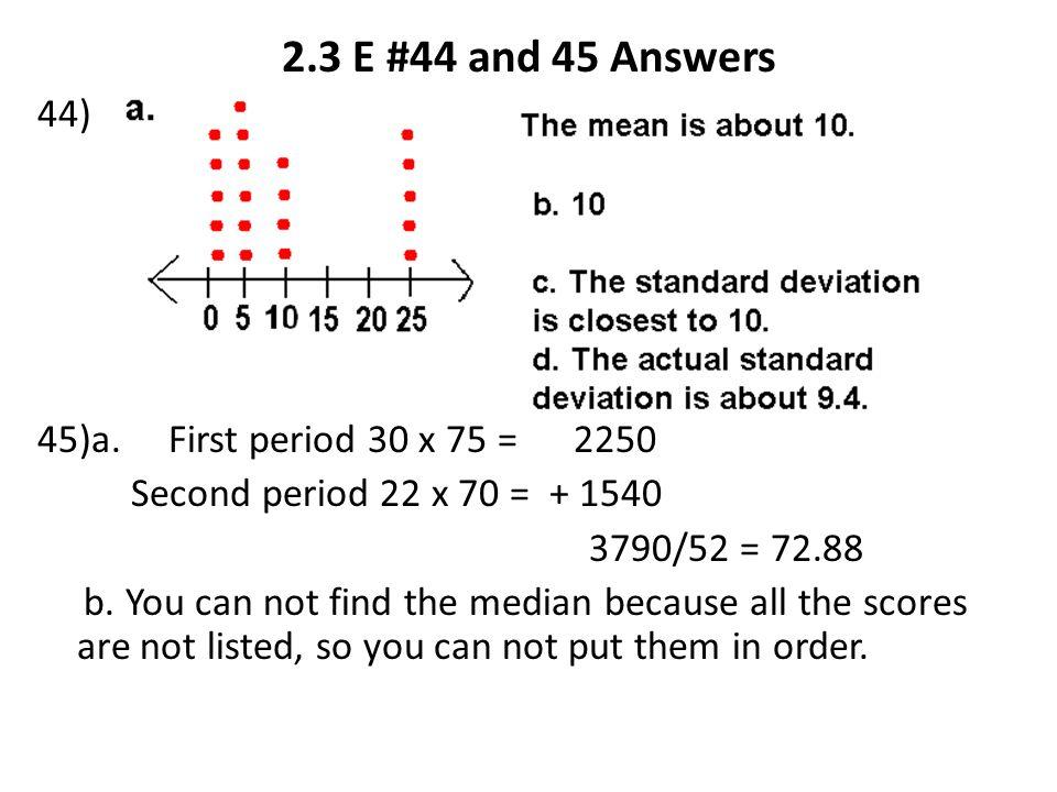 2.3 E #44 and 45 Answers