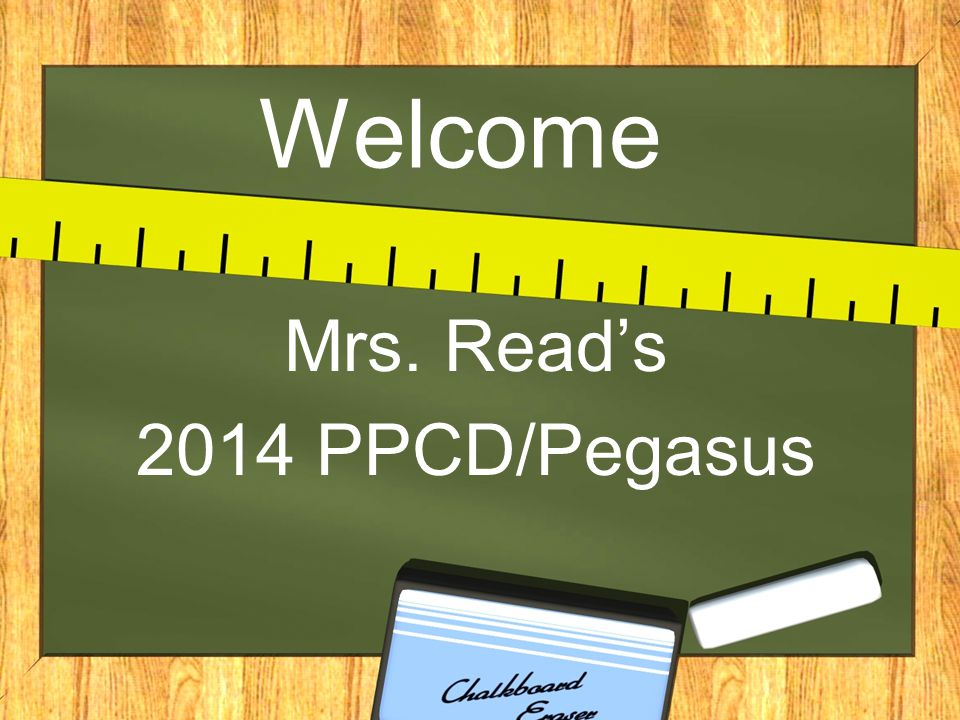 Mrs. Read's 2014 PPCD/Pegasus