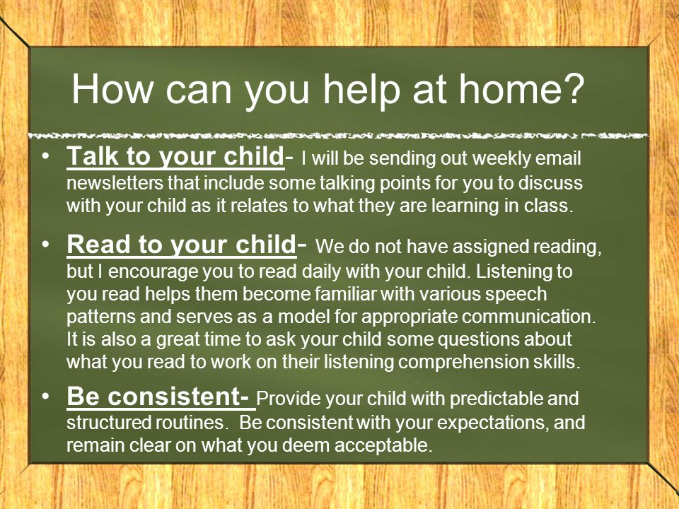 How can you help at home