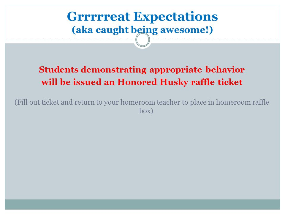 Grrrrreat Expectations (aka caught being awesome!)
