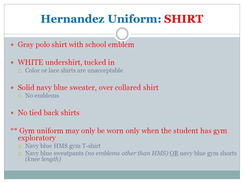 Hernandez Uniform: SHIRT