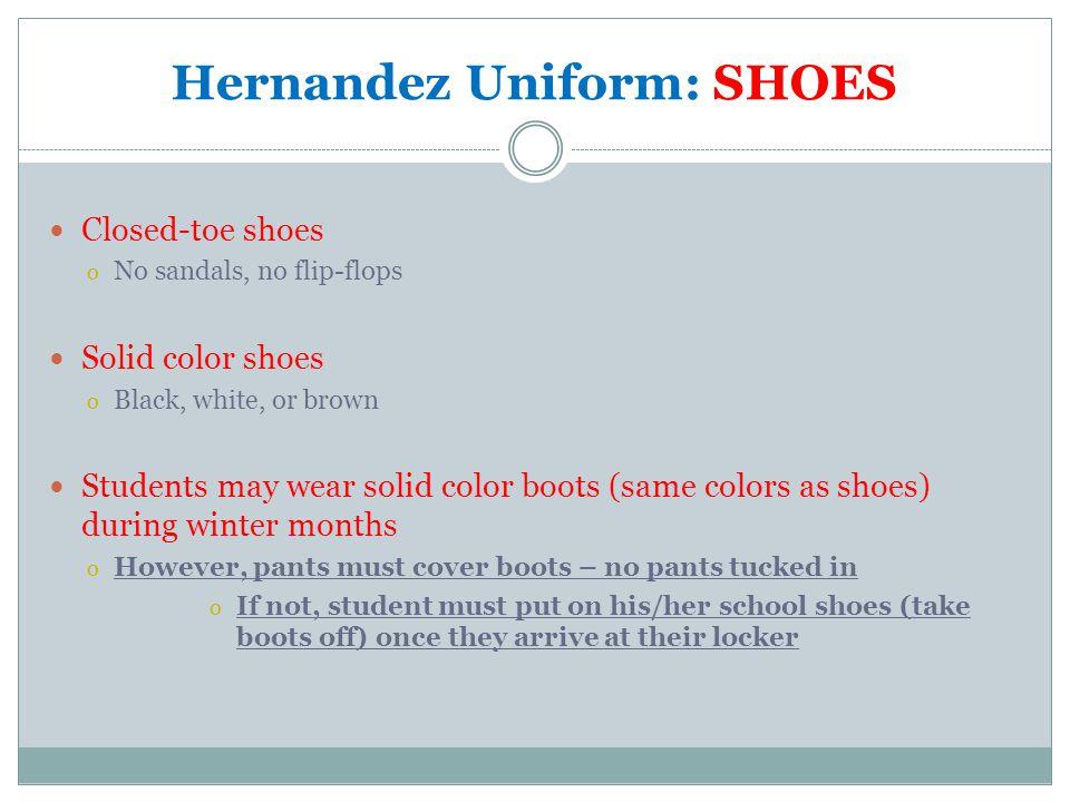 Hernandez Uniform: SHOES
