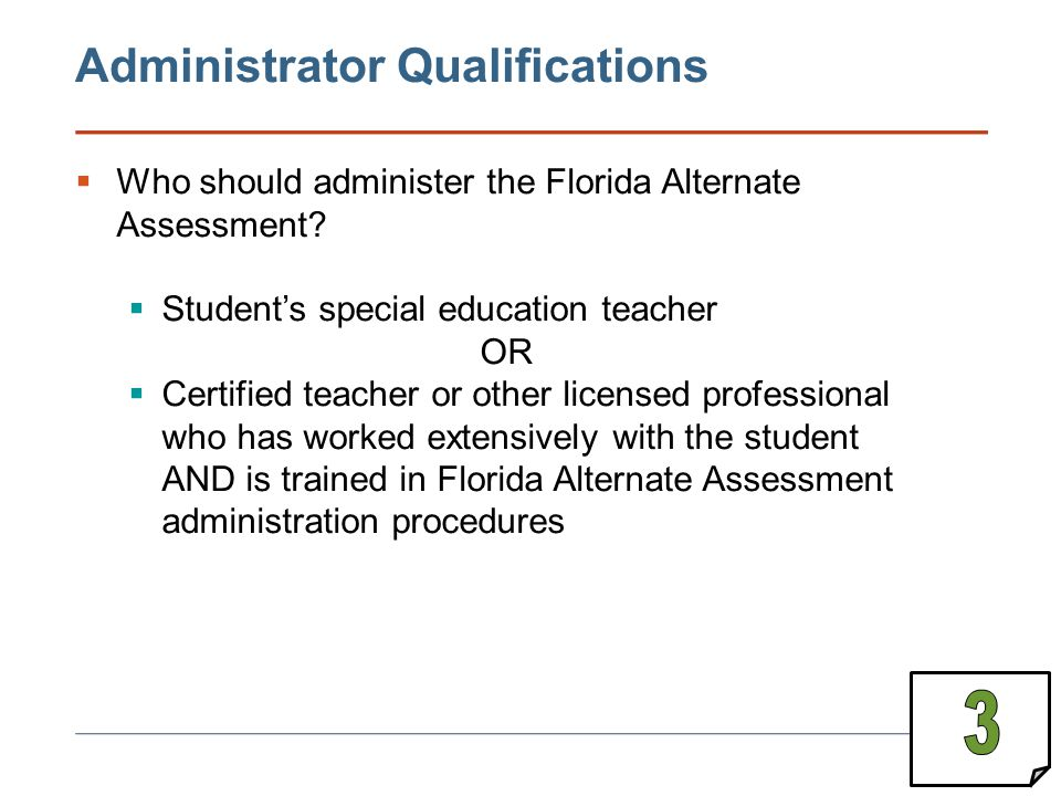 3 Administrator Qualifications