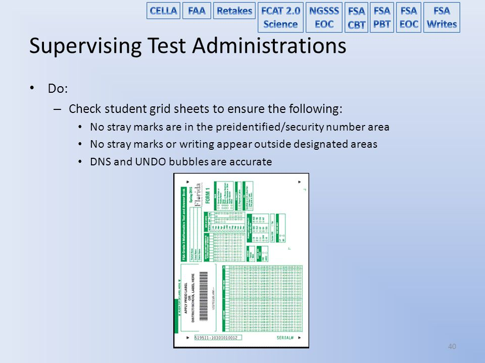 Supervising Test Administrations