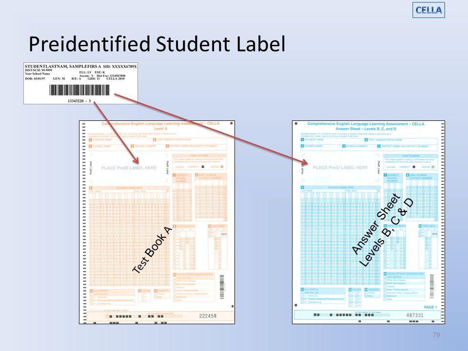Preidentified Student Label