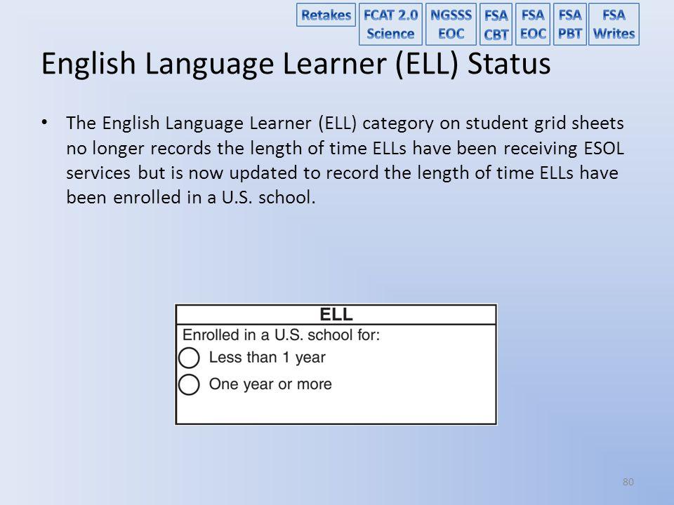 English Language Learner (ELL) Status