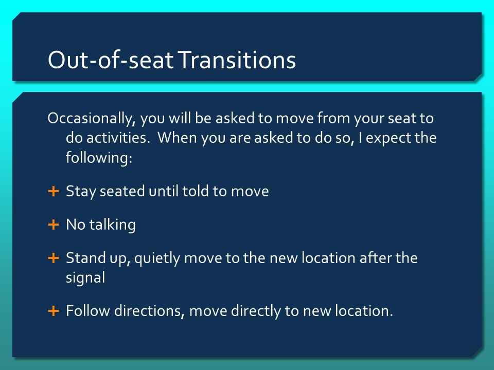Out-of-seat Transitions