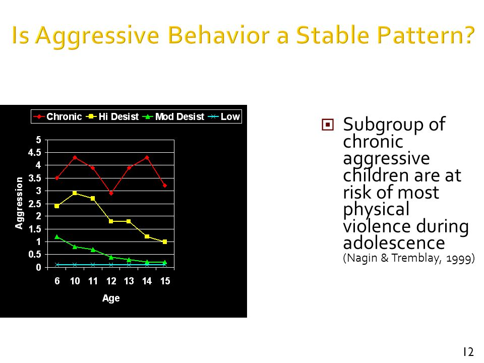 Is Aggressive Behavior a Stable Pattern