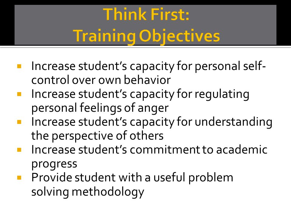 Think First: Training Objectives