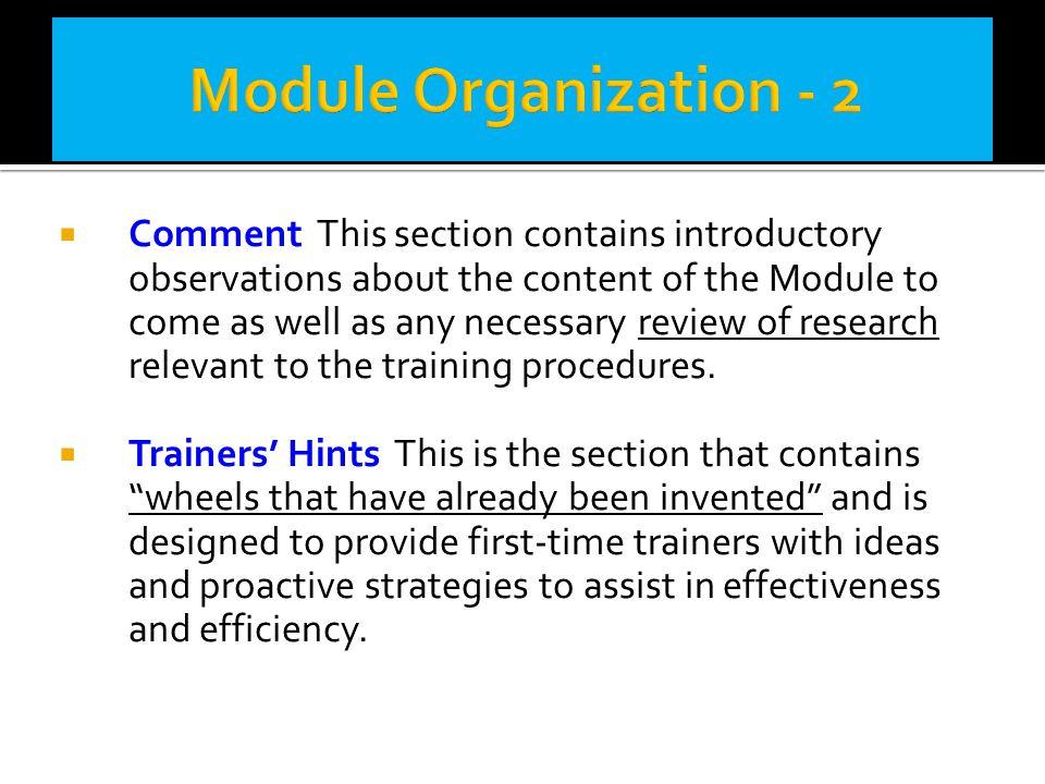 Module Organization - 2