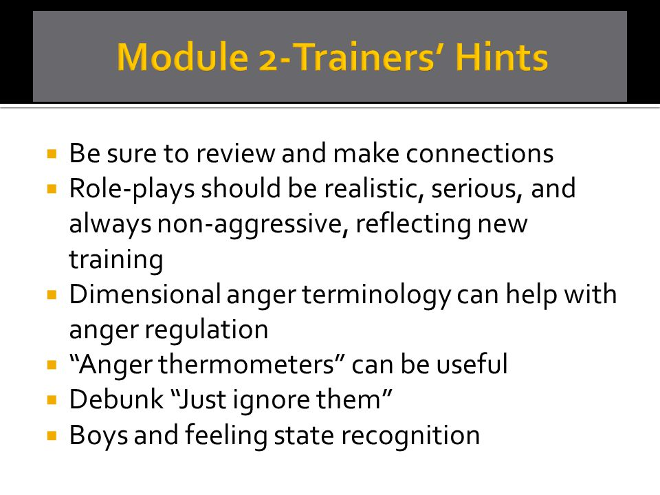 Module 2-Trainers' Hints