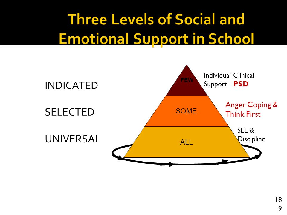 Three Levels of Social and Emotional Support in School