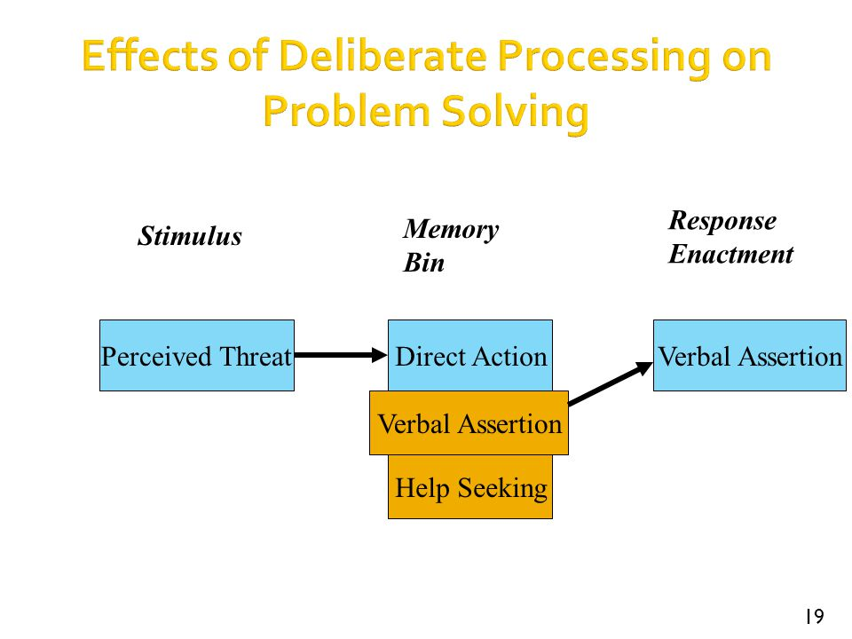 Effects of Deliberate Processing on Problem Solving