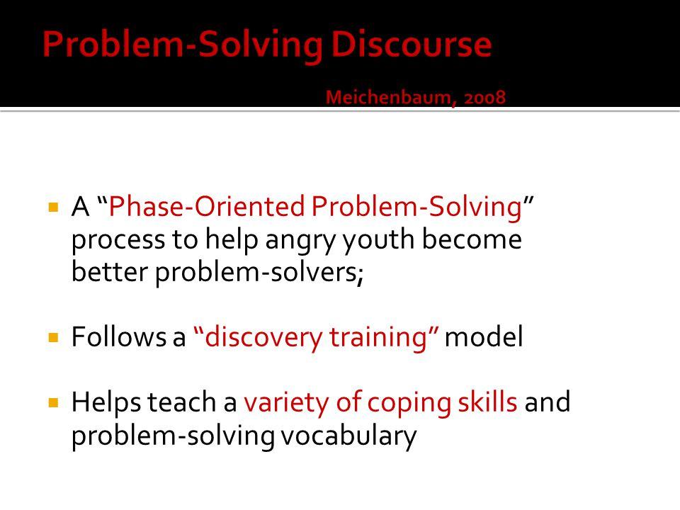 Problem-Solving Discourse Meichenbaum, 2008
