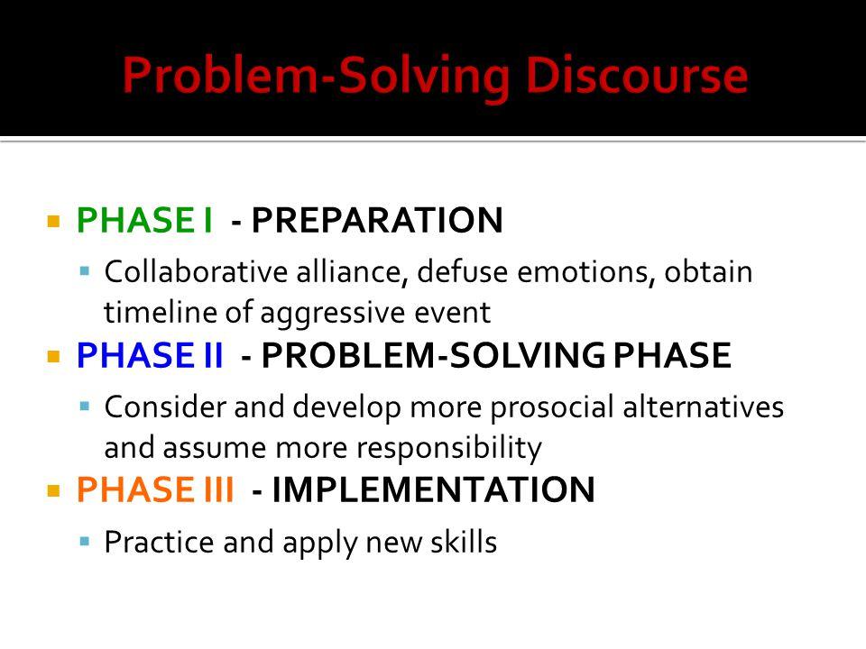 Problem-Solving Discourse