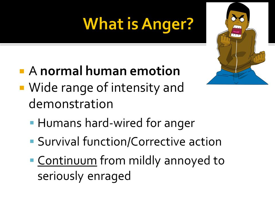 What is Anger A normal human emotion