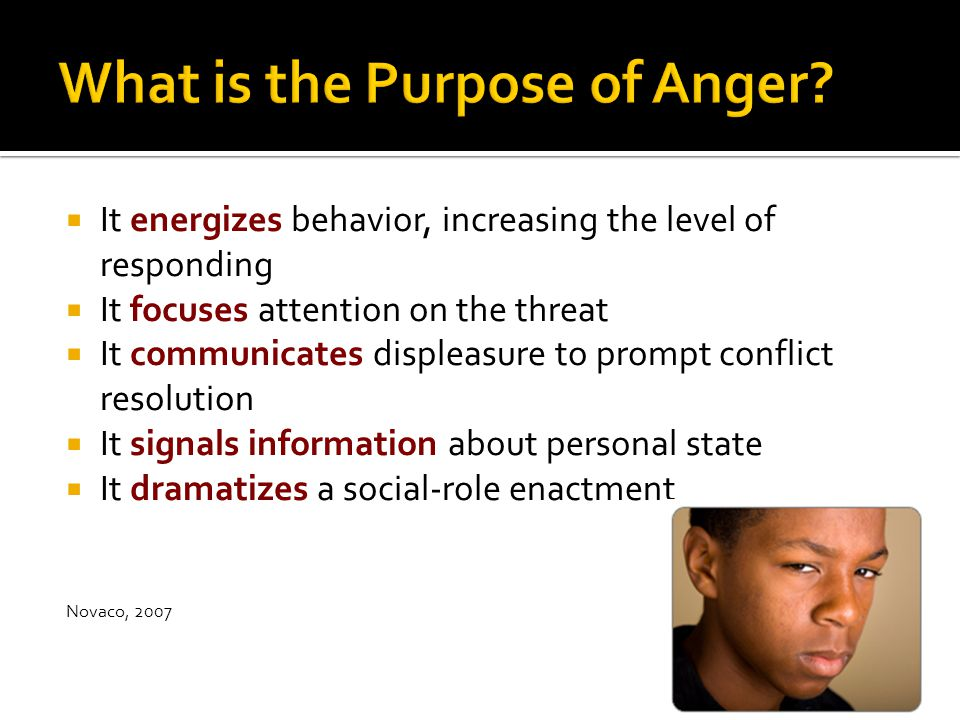 What is the Purpose of Anger