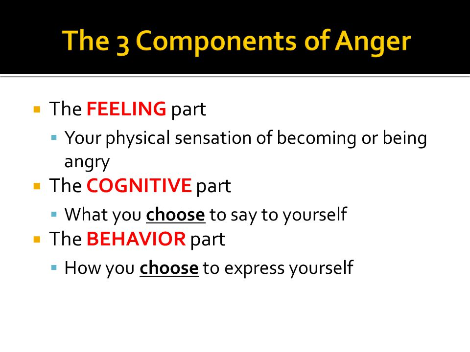 The 3 Components of Anger