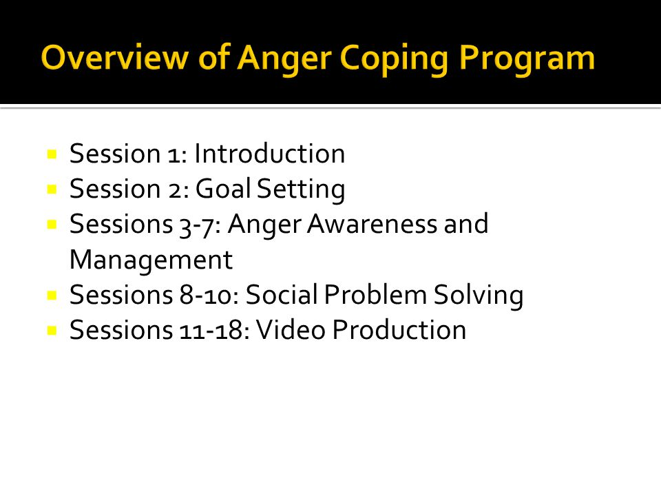 Overview of Anger Coping Program