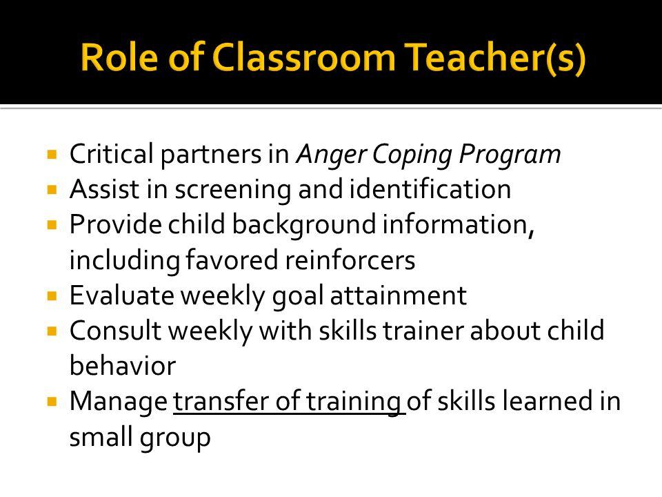 Role of Classroom Teacher(s)