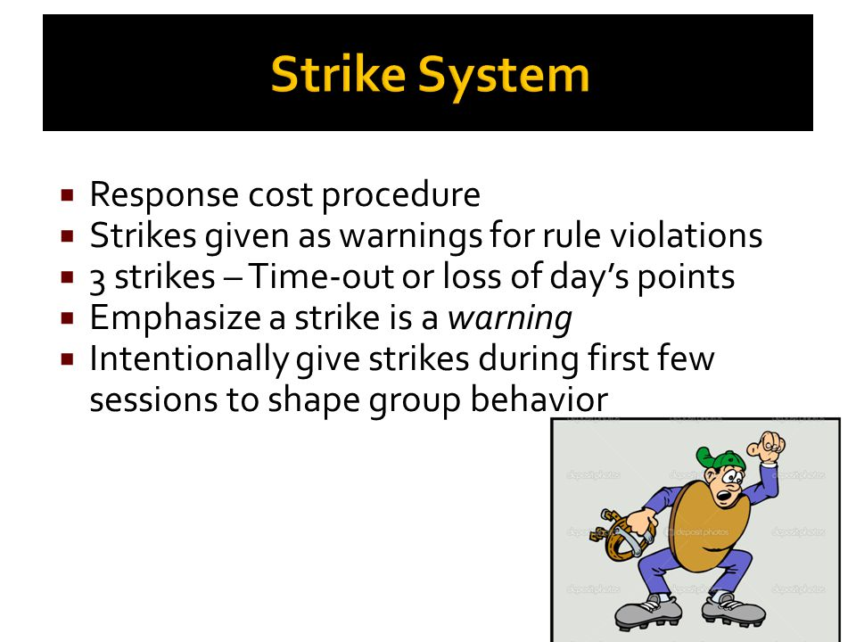 Strike System Response cost procedure