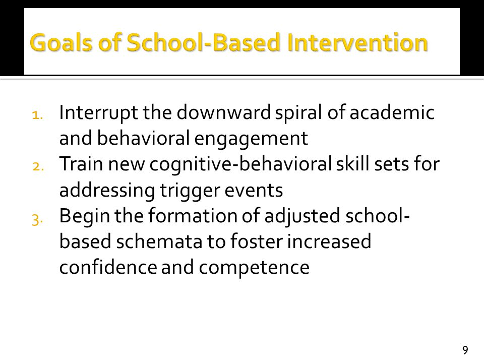 Goals of School-Based Intervention