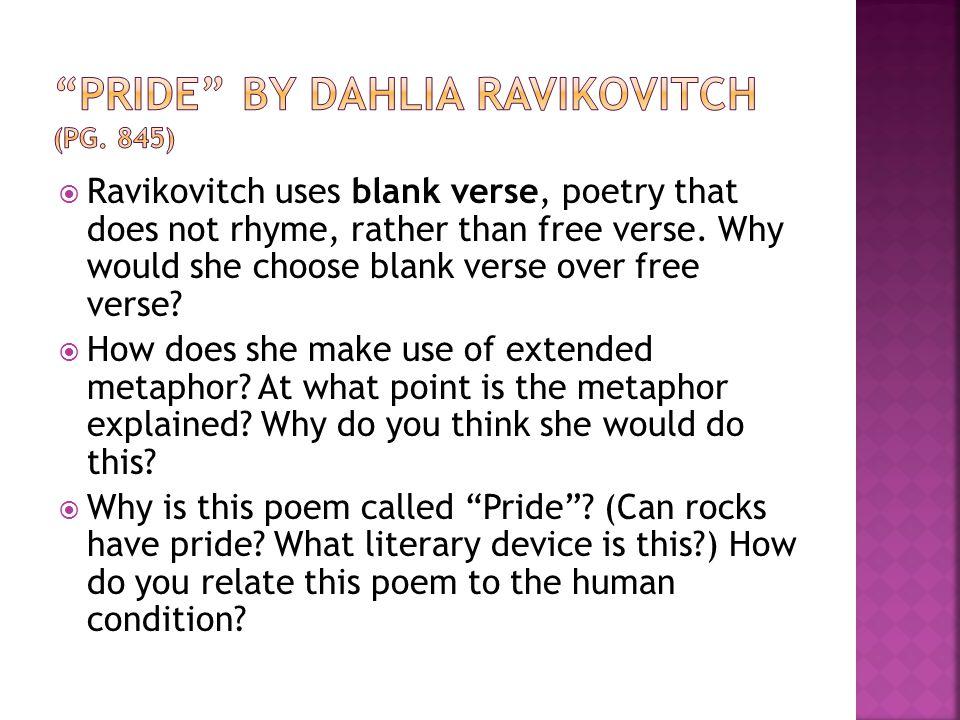 Pride by Dahlia Ravikovitch (pg. 845)