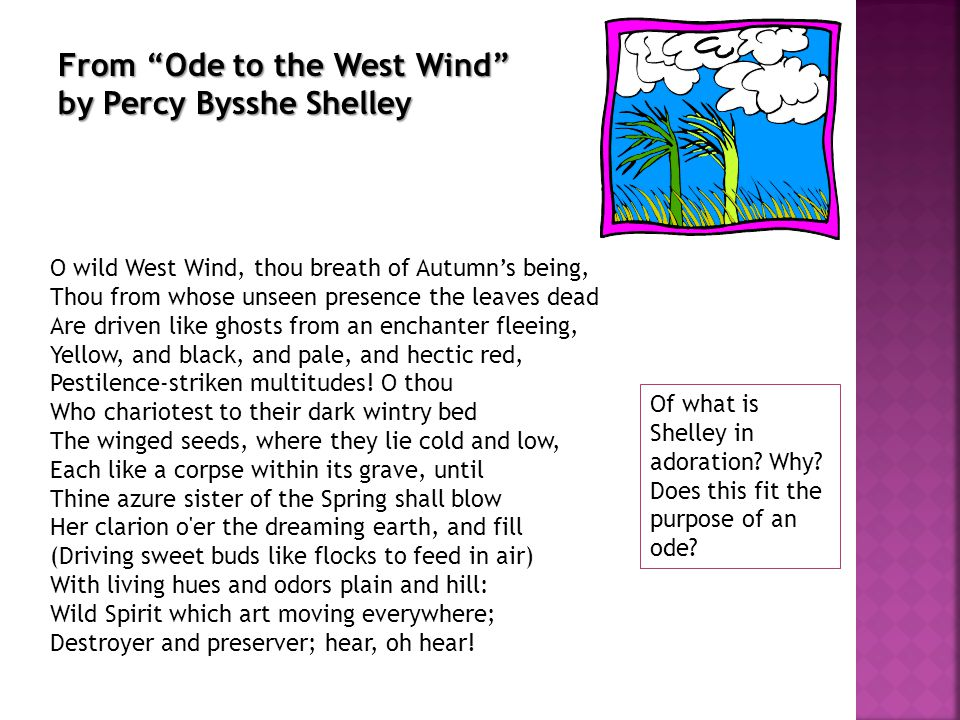From Ode to the West Wind by Percy Bysshe Shelley