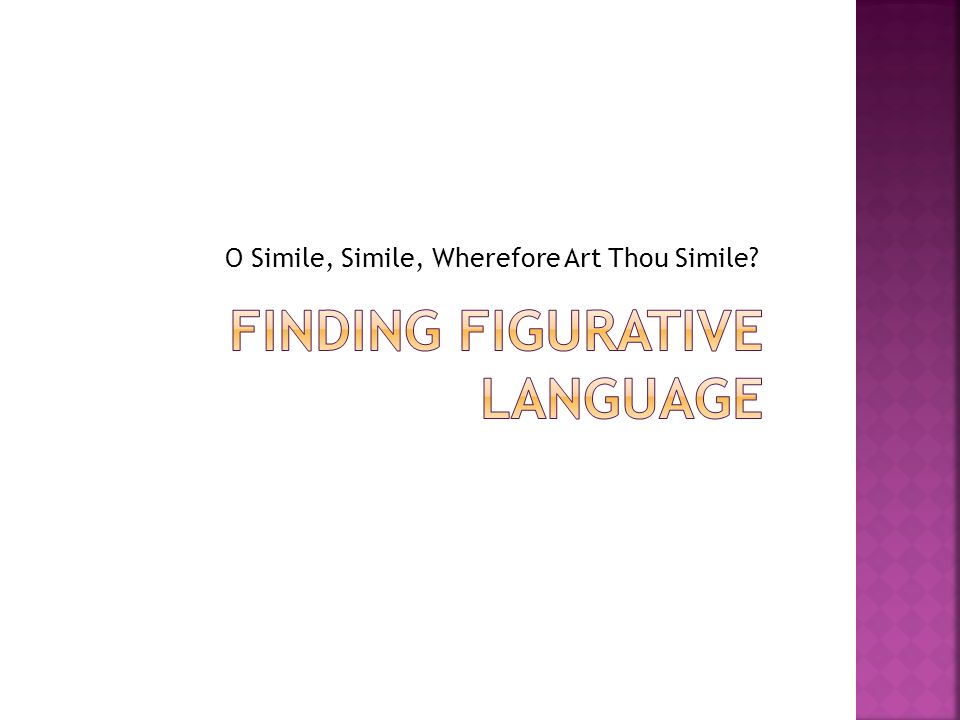 Finding Figurative Language