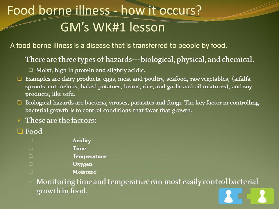Food borne illness - how it occurs
