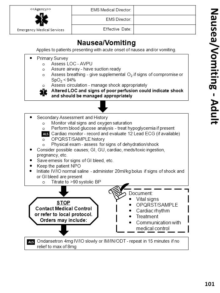 Nausea/Vomiting - Adult