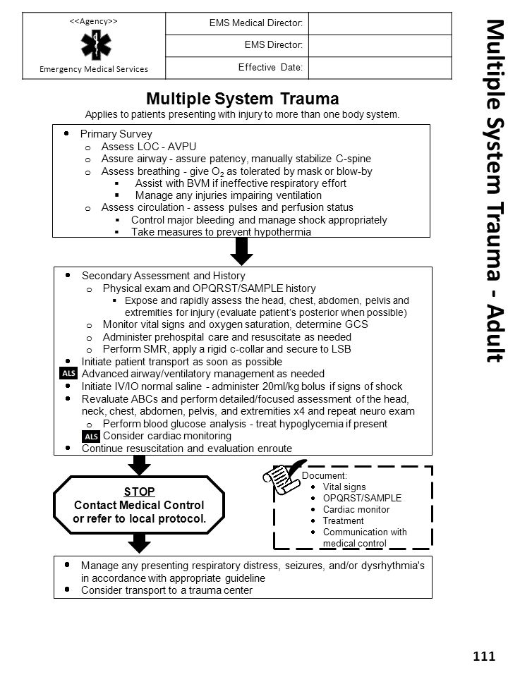 Multiple System Trauma - Adult