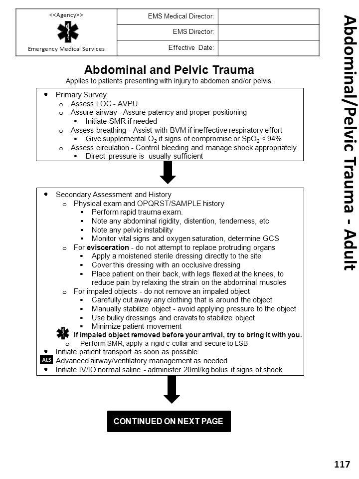 Abdominal/Pelvic Trauma - Adult