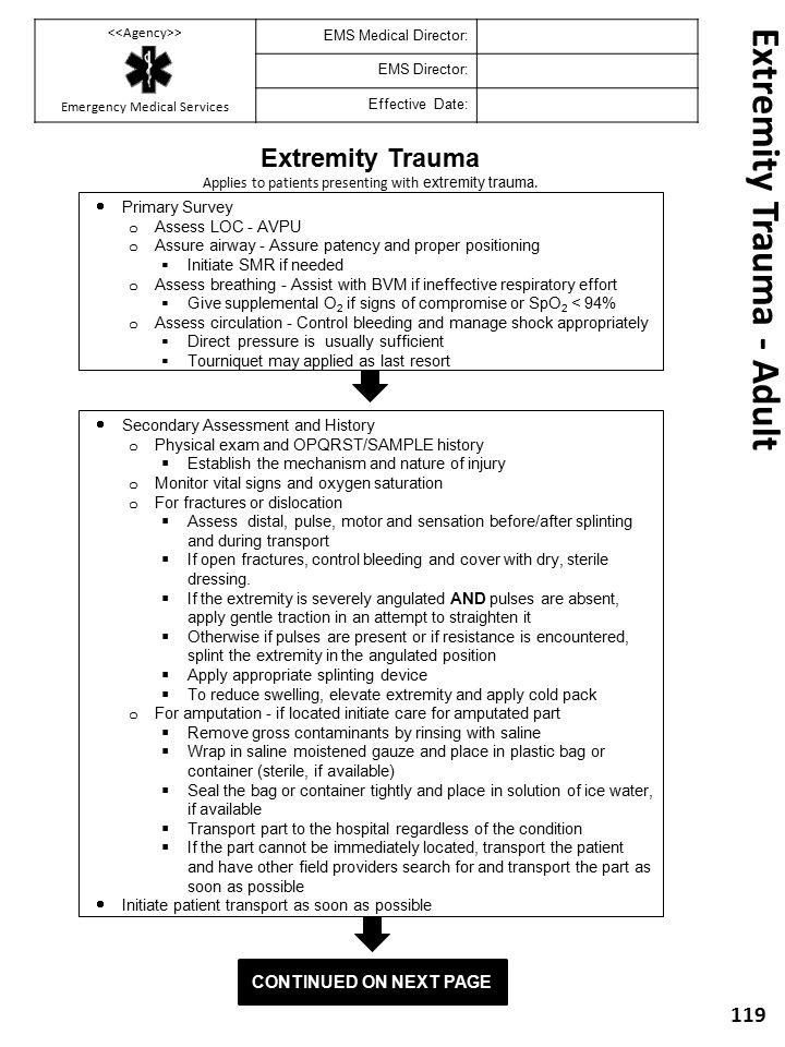 Extremity Trauma - Adult
