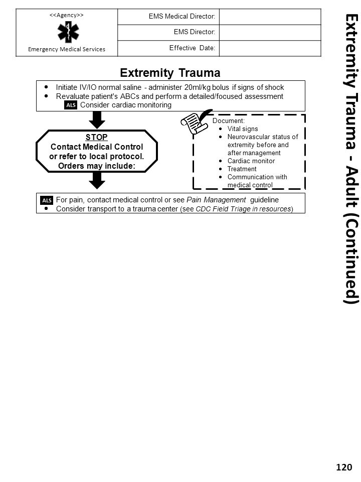 Extremity Trauma - Adult (Continued)