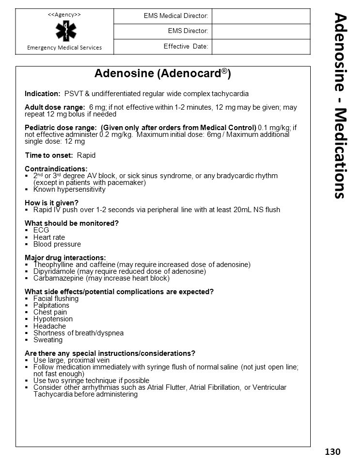 Adenosine - Medications