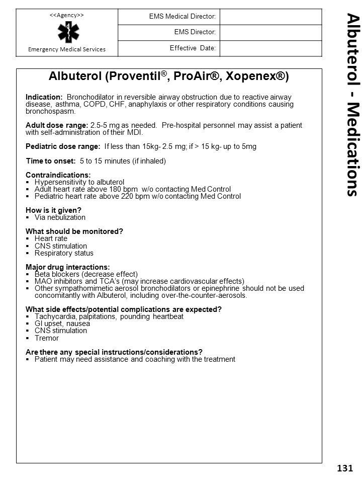 Albuterol - Medications