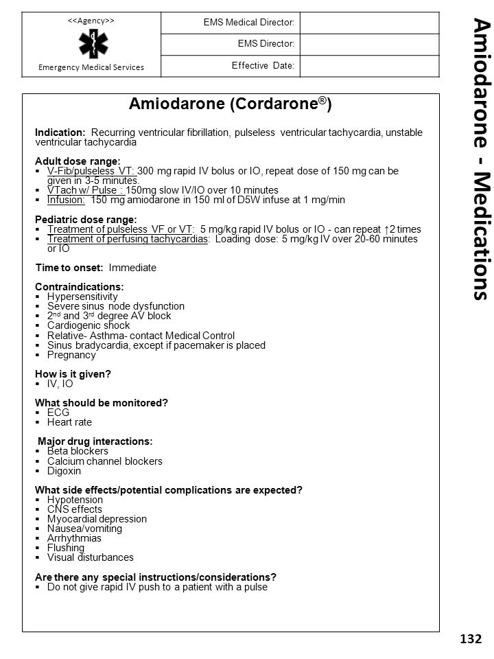 Amiodarone - Medications