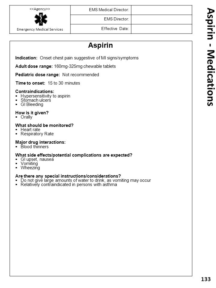 Aspirin - Medications Aspirin