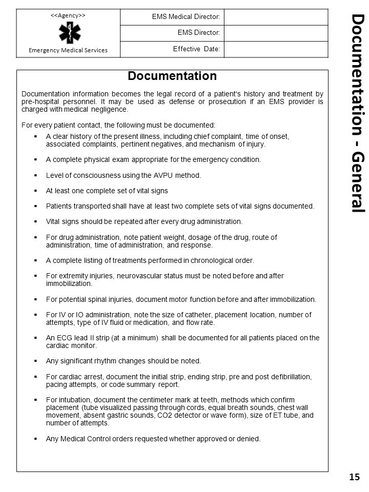 Documentation - General