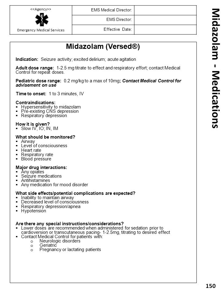 Midazolam - Medications