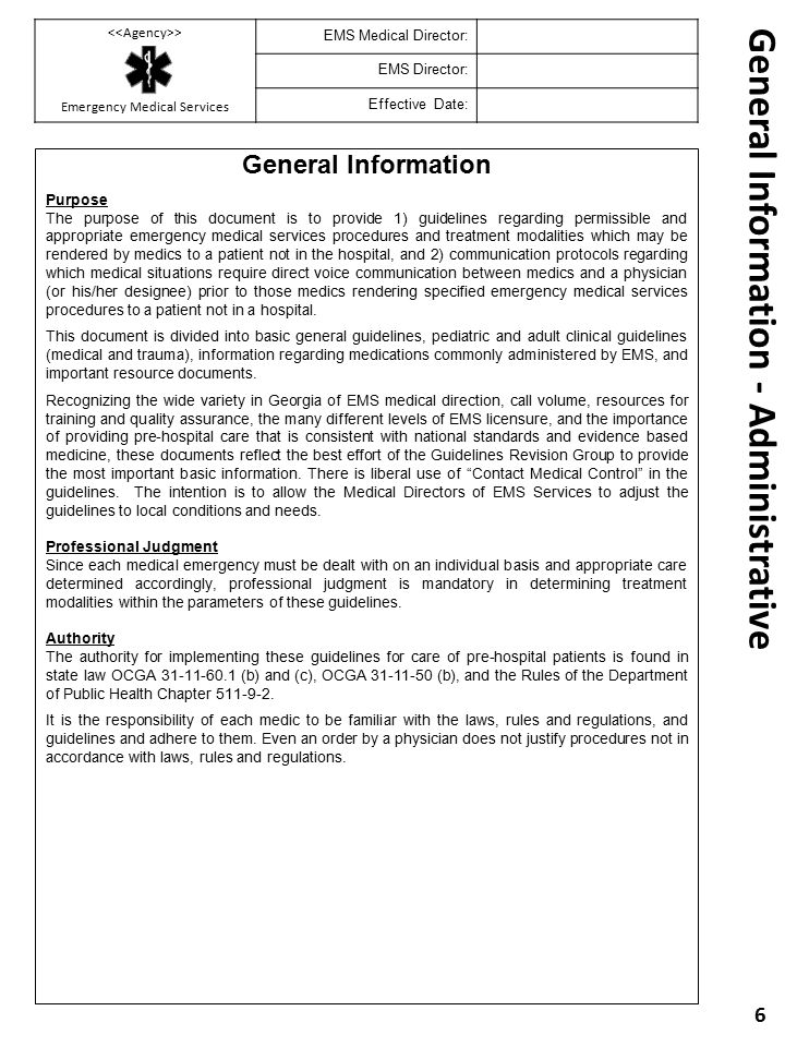 General Information - Administrative
