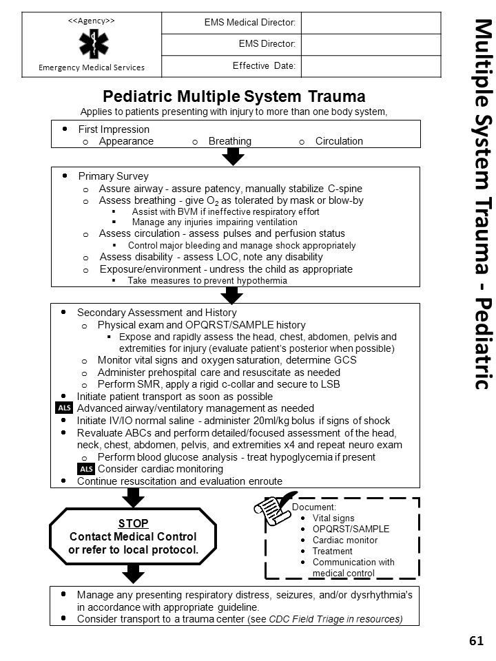 Multiple System Trauma - Pediatric